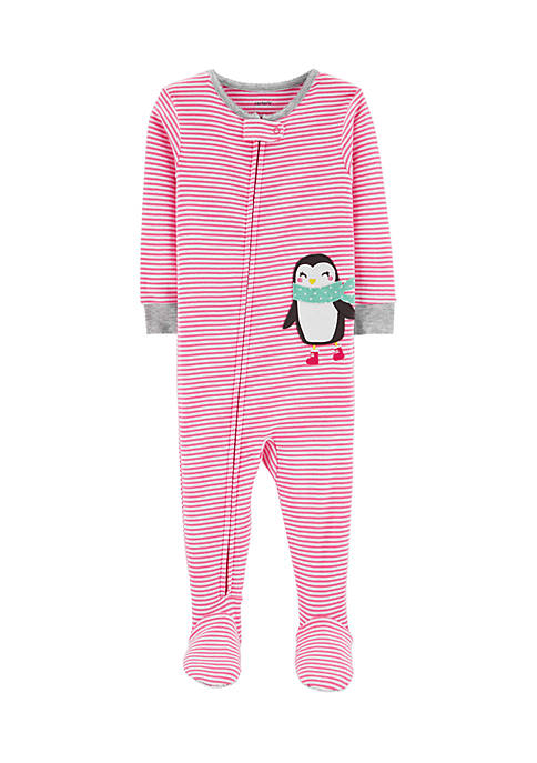 Carter's® Toddler Girls One-Piece Penguin Snug Fit Cotton