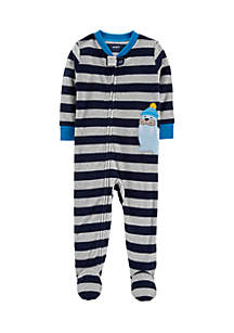 Toddler Boys 1-Piece Walrus Fleece PJs