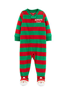 Toddler Boys Christmas Fleece Pajamas