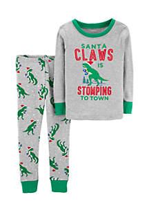 Toddler Boys Christmas Snug Fit Cotton Pajama Set