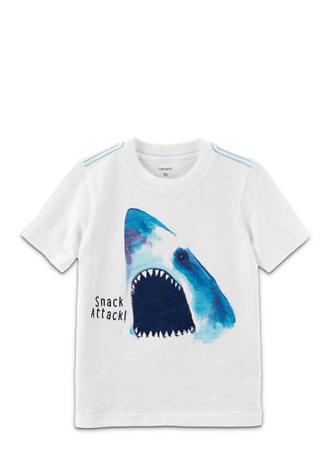 Carter's® Toddler Boys Shark Attack Slub Jersey Tee