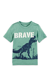 Toddler Boys Brave Dino Short Sleeve Tee