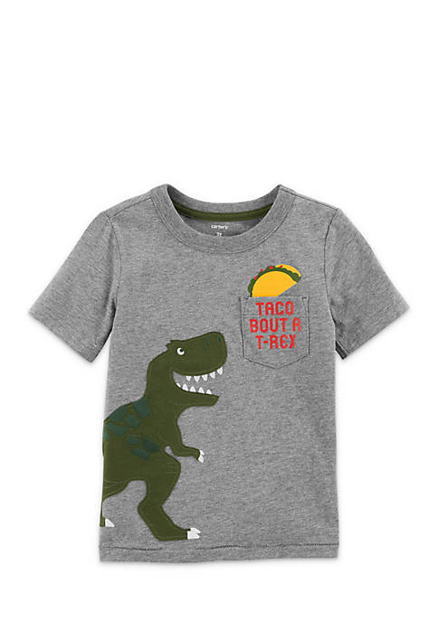 Carter's® Short Sleeve Dino Pocket Tee