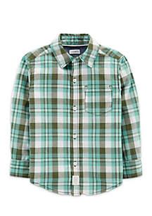 Boys 2-7 Short Sleeve Woven Shirt