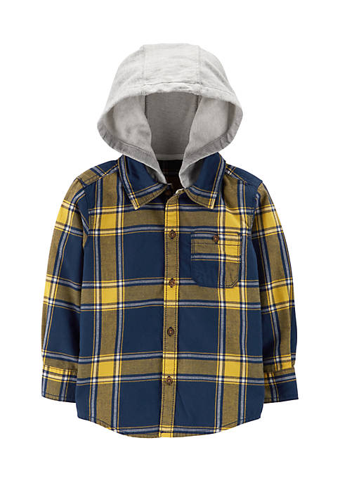 Carter's® Boys 2-7 Short Sleeve Woven Hooded Shirt