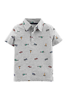 564a4bb3f6f ... Top · Carter s® Toddler Boys Car Slub Jersey Polo