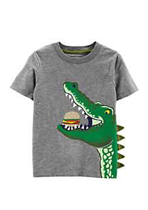 Carter's® Toddler Boys Alligator Hamburger Slub Jersey Tee