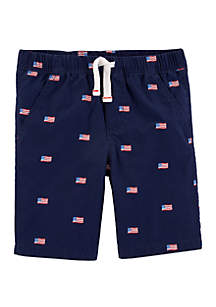 Carter's® Toddler Boys 4th Of July Easy Pull On Poplin Shorts