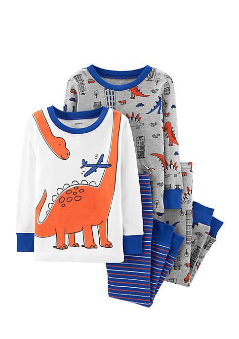 Carter S 174 Toddler Boys 4 Piece Dinosaur Snug Fit Cotton
