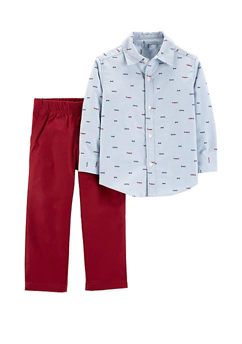 Carter's® Toddler Boys 2 Piece Button Front Top