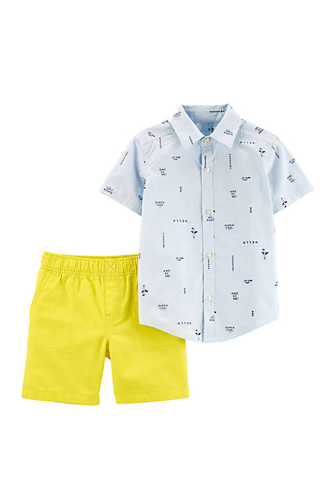 Carter's® Toddler Boys 2 Piece Striped Button Front