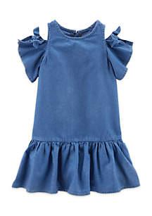 Toddler Girls Cold Shoulder Dress