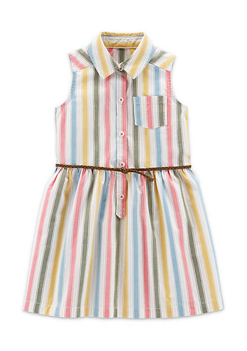 Carter's® Toddler Girls Multi-Stripe Belted Dress