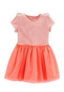 Toddler Girls Stripe Butterfly Wing Dress