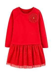 Toddler Girls Bow Holiday Dress