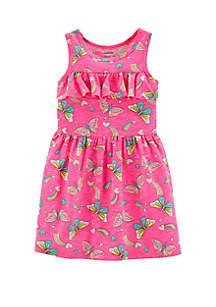 Carter's® Toddler Girls Neon Ruffle Butterfly Dress