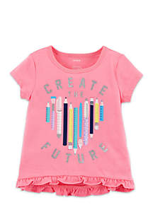 Toddler Girls Create the Future Pencil Tee