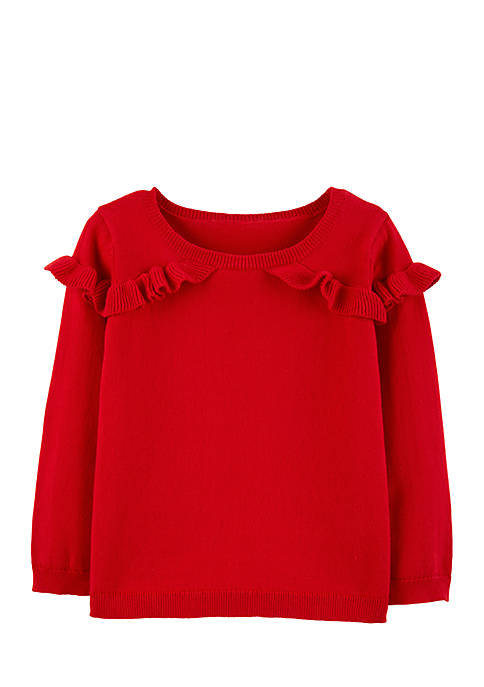 Carter's® Toddler Girls Ruffle Pullover Sweater