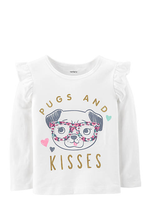 Carter's® Toddler Girls Pugs and Kisses Tee
