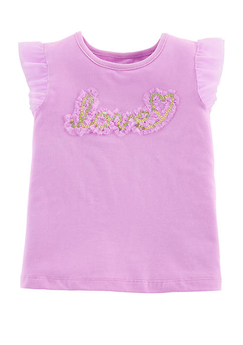 Carter's® Toddler Girls Love Tulle-Sleeve Top