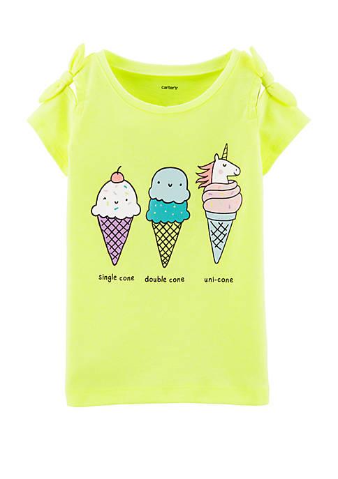 Carter's® Toddler Girls Neon Unicorn Ice Cream Cone