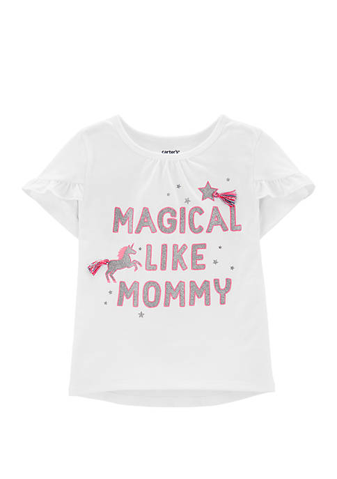 Carter's® Toddler Girl Magical Unicorn Tulip-Sleeve High Low