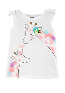 Carter's® Toddler Girls Giraffe Tulip Back Slub Tank