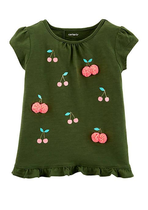 Carter's® Toddler Girls Cherry Ruffle Tulip Back Slub