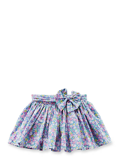 Carter's® Floral Poplin Skirt Toddler Girls