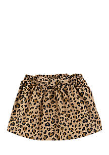 Toddler Girls Cheetah Corduroy Skirt