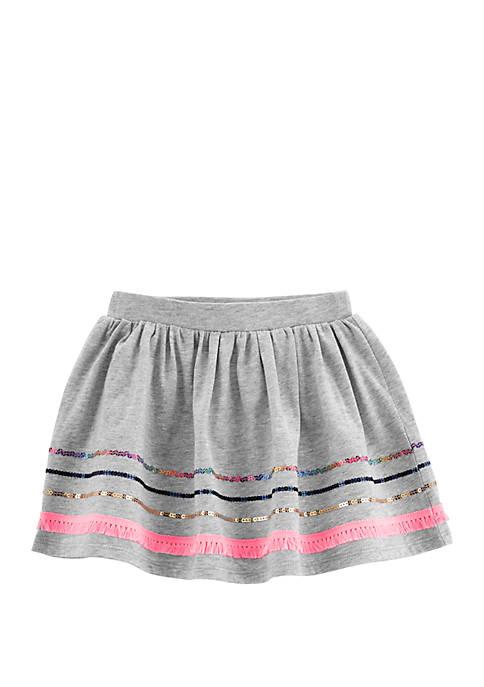 Carter's® Toddler Girls Embroidered Fringe Skort