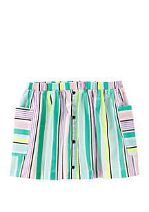 Carter's® Toddler Girls Striped Poplin Skort