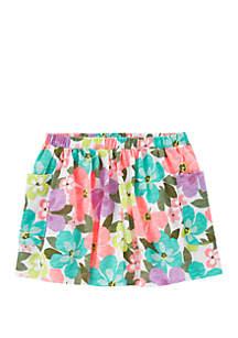 Carter's® Toddler Girls Floral Slub Skort