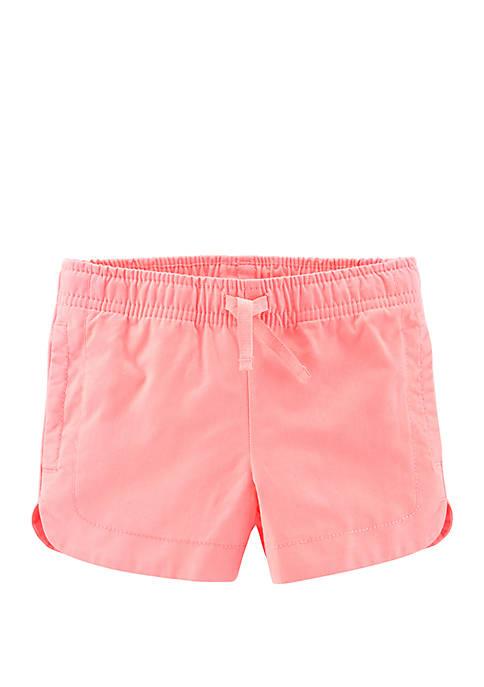Carter's® Toddler Girls Easy Pull On Twill Shorts