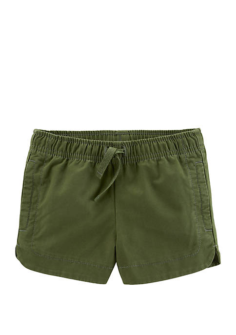 Carter's® Toddler Girls Easy Pull On Twill Shorts