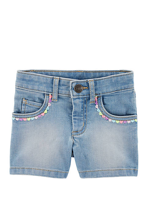 Carter's® Toddler Girls 5 Pocket Denim Shorts
