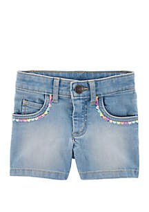 Carter's® Toddler Girls 5 Pocket Denim Shorts