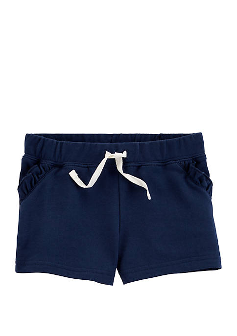 Toddler Girls Ruffle Pull-On French Terry Shorts