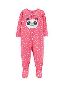670007132 ... Carter's® Toddler Girls One Piece Panda Footed Pajamas