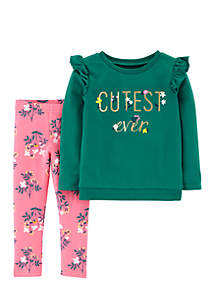 Girls 2-6x Cutest Ever Floral Pant Set