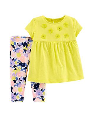 7a6868d938aa Carter's® Toddler Girls 2 Piece Floral Top and Legging Set | belk