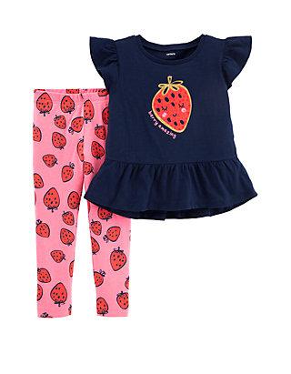 3af8745887768 Carter's® Toddler Girls Glitter Strawberry Top and Legging Set | belk