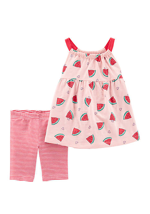 Carter's® Toddler Girls 2 Piece Watermelon Tank and