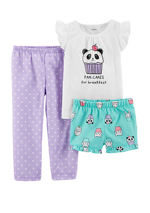 Carter's® Toddler Girls 3-Piece Pancakes Pajama Set