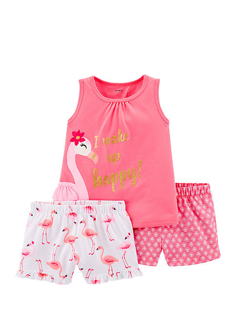 Carter's® Toddler Girls 3-Piece Flamingo Pajamas