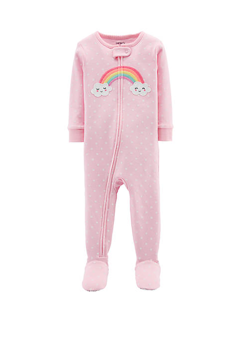 Carter's® Toddler Girls Rainbow Snug Fit Cotton Footie