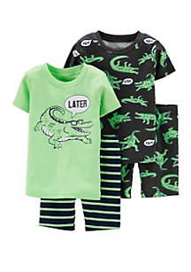 Carter's® Toddler Boys 4 Piece Alligator Snug Fit Cotton Pajama Set