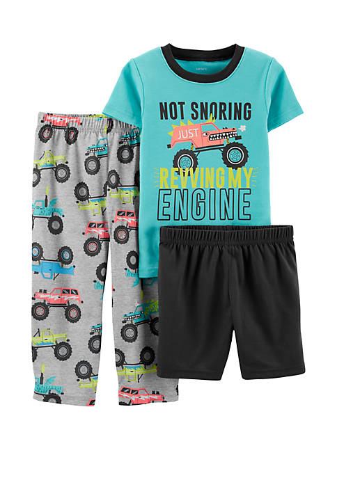 Carter's® Toddler Boys 3-Piece Monster Truck Pajamas