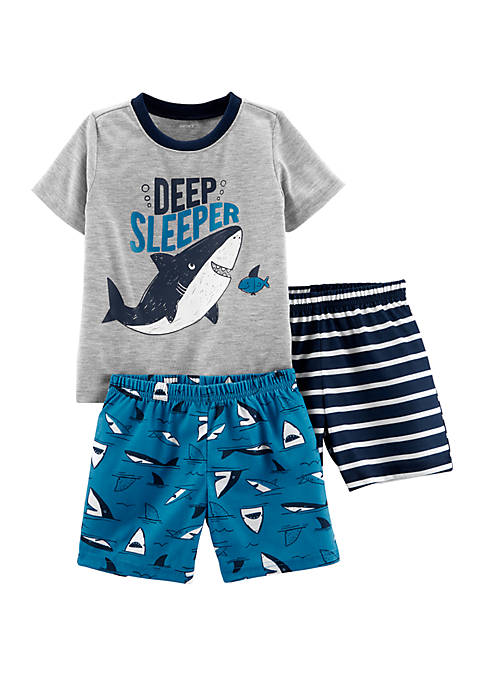 Carter's® Toddler Boys 3 Piece Whale Poly Pajamas