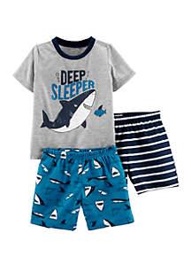 Carter's® Toddler Boys 3 Piece Whale Poly Pajamas